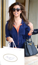 Kourtney Kardashian 10 24 12 Bonpoint Childrens Store Miami COVER